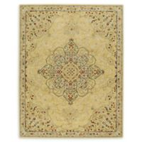 Smyrna Medallion 9'6 x 13'6 Hand Tufted Area Rug in Yellow