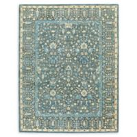 Smyrna Persian Cedars 9'6 x 13'6 Hand Tufted Area Rug in Blue