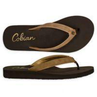Cobian Size 10 Skinny Bounce Women's Sandal in Caramel