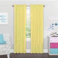 SolarShield Kids Giraffe Daze 84-Inch Rod Pocket Room Darkening Window Curtain Panel Yellow
