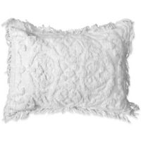 Singapore Chenille Standard Pillow Sham in White