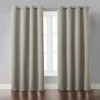 Malta 63-Inch Grommet Light-Blocking Window Curtain Panel in Beige