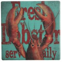 Thirstystone® Dolomite Fresh Lobster Dinner Single Round Coaster