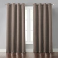 Malta 95-Inch Grommet Light-Blocking Window Curtain Panel in Brown