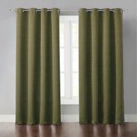 Wonder Home Malta 84-Inch Grommet Light-Blocking Window Curtain Panel in Green