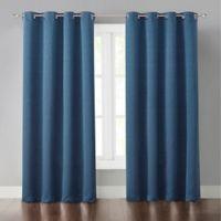 Malta 63-Inch Grommet Light-Blocking Window Curtain Panel in Blue