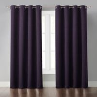 Malta 63-Inch Grommet Light-Blocking Window Curtain Panel in Purple