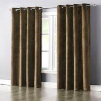 Wonder Home Audrey 63-Inch Grommet-Top Blackout Velvet Window Curtain Panel in Gold