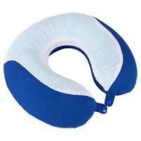 Nottingham Home Gel Memory Foam Travel Pillow in Blue
