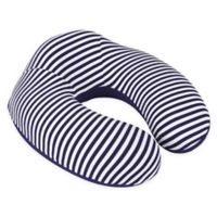 Nottingham Home Striped Memory Foam Travel Pillow in Navy/White