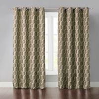 Wonder Home Phillip 63-Inch Grommet Room Darkening Window Curtain Panel in Brown