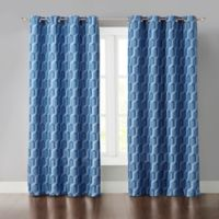 Phillip 95-Inch Grommet Room Darkening Window Curtain Panel in Blue