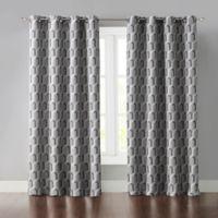 Wonder Home Phillip 84-Inch Grommet Room Darkening Window Curtain Panel in Grey