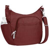 Travelon® Anti-Theft Classic Crossbody Bucket Bag in Wine