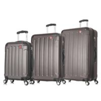DUKAP® Intely 3-Piece Hardside Spinner Smart Featured Luggage Set in Grey