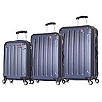 DUKAP® Intely 3-Piece Smart Featured Luggage Set in Blue