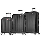 DUKAP® Intely 3-Piece Smart Featured Luggage Set in Black