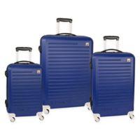 Nautica® Tide Beach 3-Piece Hardside Spinner Luggage Set in Cobalt Blue