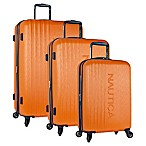 Nautica® Life Boat 3-Piece Hardside Expandable Spinner Set in Orange/Navy