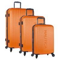 Nautica® Life Boat 3-Piece Hardside Spinner Luggage Set Orange/Navy