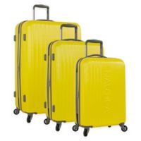 Nautica® Life Boat 3-Piece Hardside Spinner Luggage Set in Yellow/Grey