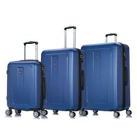 DUKAP® Crypto 3-Piece Hardside Spinner Luggage Set in Blue