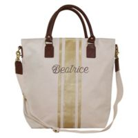 CB Station Flight Travel Bag in Natural/Gold