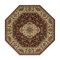 Nourison Persian Arts Kirman 7-Foot 9-Inch Octagonal Rug in Brick Red