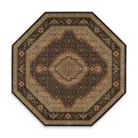 Nourison Persian Arts Mahi 5-Foot 3-Inch Octagonal Rug in Black