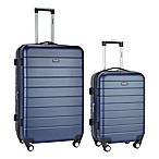 Traveler's Club® Wrangler 2-Piece Expandable Spinner Luggage Set in Navy