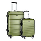 Traveler's Club® Wrangler 2-Piece Expandable Spinner Luggage Set in Olive