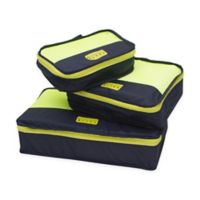 MYTAGALONGS® Packing Pods Belly Band in Navy/Lime (Set of 3)