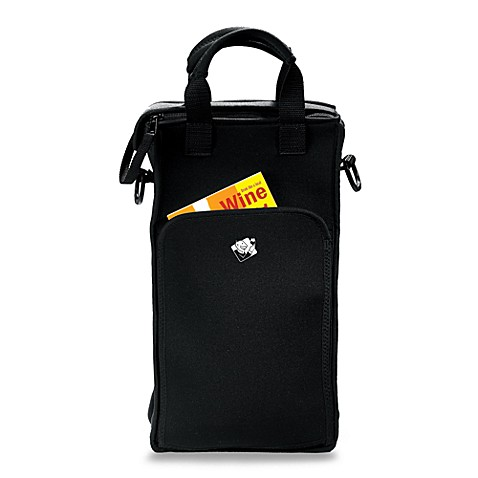 Wine Enthusiast Neoprene 2 Bottle Wine Tote Bag