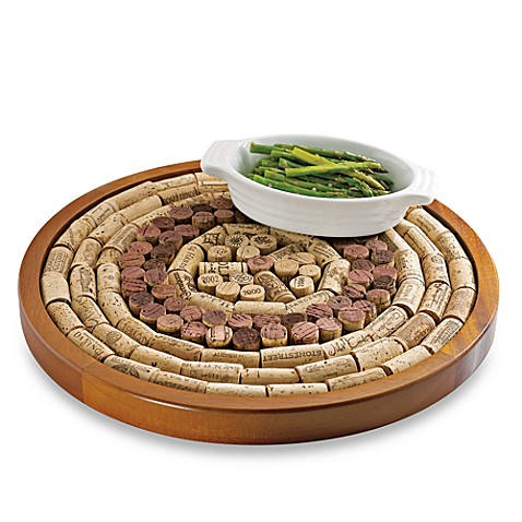 Wine enthusiast round wine cork board kit bed bath beyond for Things to do with wine corks