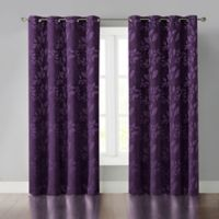 Veronica 95-Inch Grommet Room Darkening Window Curtain Panel in Purple