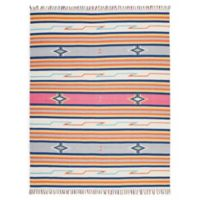 Nourison Baja Striped 8' x 10' Hand-Woven Area Rug in Ivory