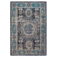 Surya Amsterdam 2' x 3' Handwoven Accent Rug in Classic Navy