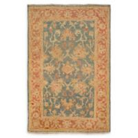 Surya Hillcrest 2' x 3' Accent Rug in Teal/Rust
