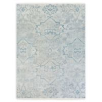 Surya Hillcrest Medallion 8' x 11' Area Rug in Dark Blue/Aqua