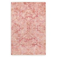 Surya Hillcrest Medallion 5'6 x 8'6 Area Rug in Pale Pink