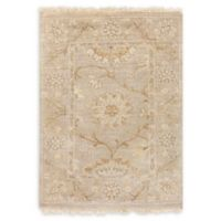 Surya Cambridge Floral and Vine 2' x 3' Hand Knotted Accent Rug in Khaki