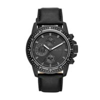 Relic by Fossil Heath Men's 46mm Watch in Stainless Steel with Black Leather Strap