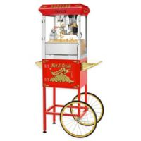 Superior Popcorn Company Hot and Fresh Popper Machine with Cart in Red