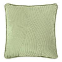 Brielle Stream Embroidered European Pillow Sham in Sage