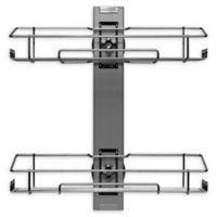Tada 2-Tier Wall Shelf in Stainless Steel