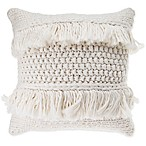 Anthology™ Henley Knit Fringe Square Throw Pillow in Ivory