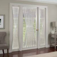 Kensington Ogee Embroidered 40-Inch Rod Pocket Sidelight Panel in White