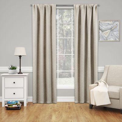SolarshieldR Mareva 95 Inch Rod Pocket Room Darkening Window Curtain Panel In Ecru