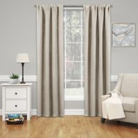 Solarshield® Mareva 84-Inch Rod Pocket Room Darkening Window Curtain Panel in Ecru