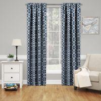 Solarshield® Mareva 63-Inch Rod Pocket Room Darkening Window Curtain Panel in Indigo